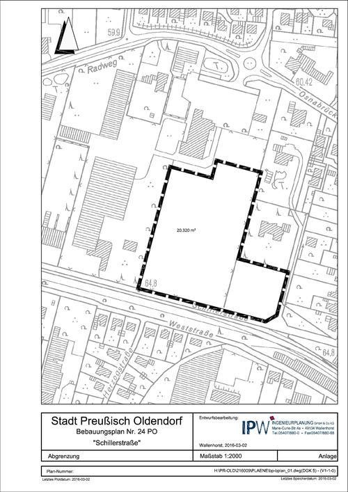 Bebauungsplan Schillerstraße