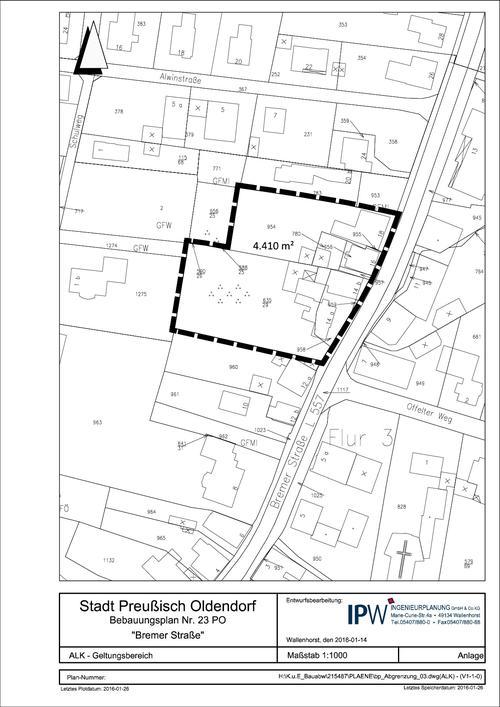 Bebauungsplan Bremer Straße